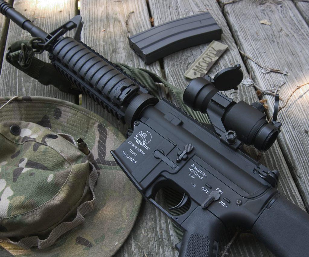 A realistic M15A4 airsoft gun for milsim games.